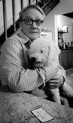 Gaby & Rulo (Fer Gonzalez 2.8) Tags: dog man blackwhite moment monocrhome leicadlux4