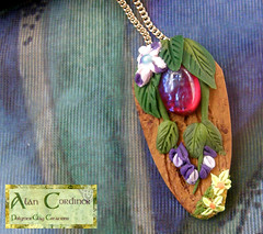 'Secret of the Forest Pendant. (Polymer Clay Delights) Tags: diy handmade unique oneofakind ooak polymerclay handcrafted enchantedforest enchantedwood cabochon handsculpted polymerclayjewellery polymerclaypendant polymerclaynecklace naturenecklace fantasyjewellery naturejewellery woodlandjewellery dragonsbreathgem
