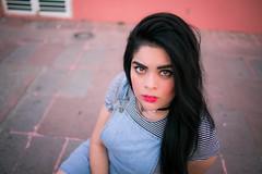 (Isai Alvarado) Tags: street pink light portrait urban woman cinema blur hot cute sexy film girl fashion 35mm movie glasses daylight hall model nikon focus dof bokeh ceci stock cine lips cap cecilia lovely cinematic eyebrows alvarado softlight d800 fotografia alvarado isai