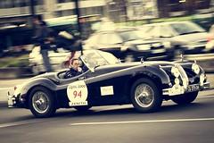 Jaguar XK140 roadster 1954 (Tom BRETON) Tags: paris canon vintage historic coche jaguar oldcar 70200 roadster vigneting xk140 f4l 600d optic2000 tourauto2016