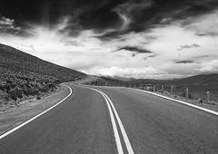 Away (Gdemiceu) Tags: road trip travel viaje sky blackandwhite bw blancoynegro argentina ruta clouds landscape view camino carretera path ngc paisaje autopista nubes vista jujuy tilcara monocromtico 100faves 50faves canon7d