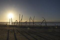 Hokitika (M J Adamson) Tags: ocean sunset sea newzealand beach nz tasmansea westcoast hokitika westcoastholiday2016