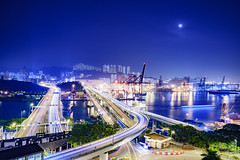 Night View of Tsing Yi Bridge (Johnny__Ko) Tags: bridge nightview traffictrails tsingyi