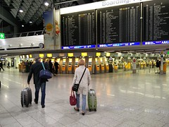Travellers at FRA (A. Wee) Tags: travel germany airport frankfurt terminal traveller fra