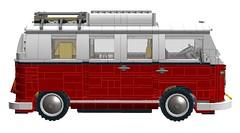 LEGO 10220 VW T1 Camper (2016 Update) (RS 1990) Tags: vw volkswagen mod lego van rv creator update camper t1 2016 ldd 10220 newparts digitaldesigner