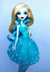 All my love (ozthegreatandpowerful) Tags: blue monster high doll dolls dress head ooak custom shrink repaint reroot lagoona sheinking