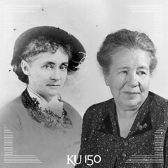#KUtbt- Like grandmother, like granddaughter (The University of Kansas Official Flickr Site) Tags: professor microbiology usarmy bacteriology viraldiseases kansasboardofregents kustudents kutbt ku150 coradowns