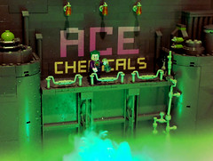 Return to Ace Chemicals... (2 Much Caffeine) Tags: lego joker moc ironbuilder acechemicals