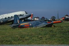 XM407 - Jet Provost T.3 - Royal Air Force - Manston - 24 October 71 (THE Graf Zeppelin) Tags: hunting manston royalairforce wrecksandrelics jetprovostt3 19711024 xm407