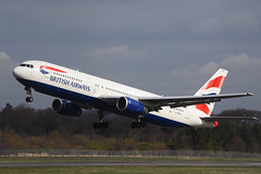 G-BZHA.EDI080416 (MarkP51) Tags: plane airplane scotland airport nikon edinburgh image aircraft aviation boeing britishairways airliner b767336er gbzha d7200 markp51
