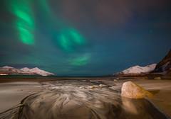 Nordic Light (johnp_hagen) Tags: sea seascape beach nature norway landscape coast norge artic northernlights auroraborealis troms kvalya grtfjord