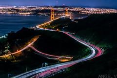 Beyond the Vista Point (thegentledon) Tags: sanfrancisco california longexposure lights cityscape thecity pch goldengatebridge freeway bayarea marincounty lighttrails marinheadlands vistapoint pacificcoasthighway streetsofsf