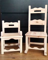 Homemade miniature chairs for my little princes (skiti_taka) Tags: kids miniature chair kinderen sit rockingchair schommelstoeltje