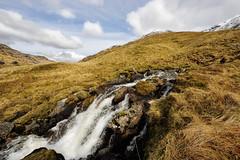 Hillside Waterfall (Click And Pray) Tags: snow mountains clouds landscape scotland waterfall stream argyll bluesky hillside restandbethankful snowcappedmountains landscapeformat kinglaswater managedbyclickandpraysflickrmanagr a83road argyllscotlandrestandbethankfulhillsidestreamsnowmountainssnowcappedmountainscloudsblueskylandscapelandscapeformata83roadkinglaswaterwaterfallgbr