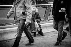 Walk On By (Steve Greene Photography) Tags: street people urban blackandwhite woman monochrome candid streetphotography elderly aged cheltenham nikond40