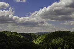 Valle del Treja, Calcata (Gaetano Virgallito) Tags: trees sky italy clouds forest landscape hills valley viterbo lazio calcata
