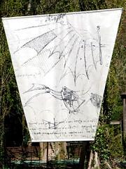 Flying has always been a dream for Leonardo Da Vinci - Clos Luc in Amboise (Sokleine) Tags: france heritage sketch industrial drawing dessin inventions 37 vinci renaissance amboise aeronautics industriel leonardodavinci touraine indreetloire centrevaldeloire closluc