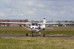 Checks Complete (Al Henderson) Tags: england airport unitedkingdom aviation bedfordshire planes gb cessna 152 cranfield egtc gbmvb