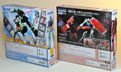 Bandai  Robot Damashii (ROBOT) Side MS  RX78-2 Gundam & MS-06S Char Zaku ver. A.N.I.M.E.  Box Back (My Toy Museum) Tags: anime robot action side figure ms char gundam zaku bandai damashii