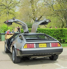 DeLorean DMC 12 * (John(cardwellpix)) Tags: uk corner sunday surrey just april passing through 12 guildford visiting delorean 24th newlands dmc albury 2016 merrow
