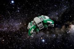 Verderensis (Brizzasbricks) Tags: space scifi spaceship hyperspace mercenary ftl spacelego microsacle