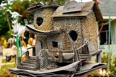 This Bird Has Flown (Art By Pem Photography: Tao Of The Wandering Eye) Tags: california wood stilllife usa closeup canon eos rebel sandiego handmade crafts birdhouse nopeople beatles remnants ramshackle whimsical sl1 thebeatles northpark fineartphotography norwegianwood canoneosrebelsl1