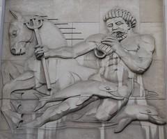 The Gods... (jmaxtours) Tags: toronto ontario bank gods poseidon neptune basrelief trident greekgods torontoontario thegods bankofnovascotia romangods thebankofnovascotia