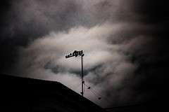 irrequieto (AOP fotografia) Tags: sky storm cold colors look weather silhouette clouds composition dark long exposure italia angle time grain line exposition wait fujifilm movimento quite tempo antenna anxiety gather 55200 irrequieto