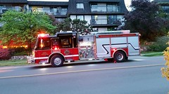North Vancouver City, BC Engine 10 (walneylad) Tags: red canada black evening spring britishcolumbia firetruck april fireengine lolo feuerwehr bomberos firedepartment inaction redlights firebrigade pumper americanlafrance pompiers firerescue onscene bombeiros fireservice emergencyvehicle fireappliance fireapparatus structurefire lowerlonsdale engine10 firescene firevehicle northvancouvercity pumpladder