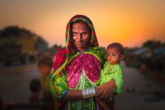 Survivors of Sindh (ZaIGHaM-IslaM) Tags: pakistan sunset women planes strong sindh survivors standingstrong sindhiwomen floodsurvivor mothershild womenatsunset