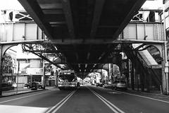 Frankford El - Septa (Lap Chung) Tags: street urban film philadelphia 35mm olympus elevatedtrain trix400 om2n push1600