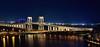 Sai Van Bridge, Macau (Rebecca Ang) Tags: china city bridge light urban architecture reflections twilight cityscape bluehour macau macao thebluehour saivan saivanbridge specialadministrativeregion ostrellina pontesaivan rebeccaang
