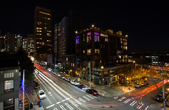 purple light special (ryan k wang) Tags: seattle longexposure nightphotography rooftop downtown cityscapes pacificnorthwest pnw