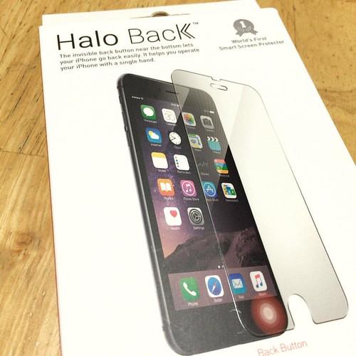 New version Halo Back. 新しいバージョンが本日届いた。感度が良くなってますます使いやすい♪(´ε` ).  #haloback #使いやすい #kickstarter #投資 #investment
