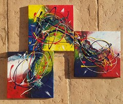 """""""Mon Dbut, Ma Fin"""" Triptyque acrylique sur toile  #art #artiste #toile #abstrait #acrylique #abstract #color #triptyque (benjamin.larroche) Tags: abstract color art triptyque toile artiste acrylique abstrait"""
