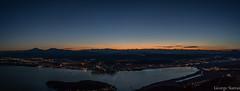 Ioannina Panorama (Giorgos.siat) Tags: city sunset sky cloud mountain lake nature night sunrise landscape greek dawn lights golden town view outdoor dusk greece hour ioannina giannena epirus mitsikeli pamvotis pambotis  pamvotida     ligkiades