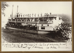 Wisconsin River Steamboat at Gunther's Ldg, Caledonia