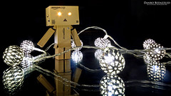 Danbo Bedazzled (AreKev) Tags: metal reflections lights amazon nikon action decoration battery balls sigma mini led figure 1020mm yotsuba hss danbo 1020mmf456exdchsm maroq revoltech d7100 danboard nikond7100