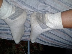 white/gray Hanes ankle sock 6 (nettie83_2000) Tags: socks sock dirty sweaty smelly hanes dirtysock