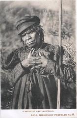 A native of Western Australia - S.P.G. Missionary postcard - early 1900s (Aussie~mobs) Tags: societyforthepropagationofthegospel vintage postcard westernaustralia native aborigine indigenous aussiemobs