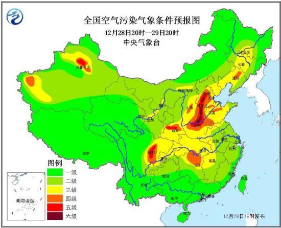 京津鲁及冀中南豫北将有轻到中度霾 局地重度霾