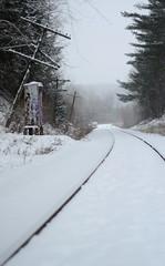 Power Line (Jacob Gerlofs) Tags: winter snow nature photography nikon railway snowfall nikond7000