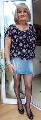 Denim mini skirt (emmafoster87) Tags: lips gorgeous hot hair darling face transvestite girl dream crossdressed beautiful transvestism transvestites tgurls travesti travestido tranvestite tg mature crossdressing closetdresser feminization femme genderfluid gurl cougar mini heels