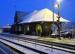 Trackside at Brampton Station (Sean_Marshall) Tags: winter station cn downtown railway viarail brampton gotransit grandtrunk