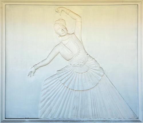 India - Kerala - Fort Cochin - Wall Decoration - Dancer