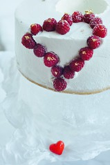 pure valentine (maevasarahoney) Tags: decorations white ice cake angel heart background cream valentine raspberries minimalist whipping mascarpone foodphotography purewhite foodstyle minimalistcake