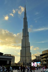 The world famous Burj Khalifa of Dubai (RSK.2016) Tags: city travel people building tower skyline architecture skyscraper mall wonderful shopping photography evening dubai outdoor uae engineering places bluesky structure explore experience marvel tallest nikond3200 worldfamous burjkhalifa