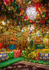 bride in the decorated room for traditional wedding, Hormozgan, Bandar-e Kong, Iran (Eric Lafforgue) Tags: wedding people woman vertical photography persian clothing women colorful asia pattern veil dress mask iran room muslim islam traditional religion decoration ceremony hijab culture traditions marriage persia folklore womenonly kong celebration hidden indoors identity human covered ritual iranian colourful ornate custom adults abundance cushions adultsonly oneperson islamic burqa ethnicity middleeastern persiangulf sunni chador 20sadult youngadultwoman hormozgan onewomanonly burqua إيران иран embroidering 1people イラン irão straitofhormuz 伊朗 unrecognizableperson colourpicture bandarekong 이란 borqe boregheh irandsc04730
