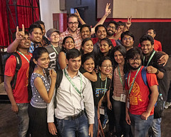 Dries & Angie selfie - DrupalCon Asia 2016 (comprock) Tags: india conference maharashtra mumbai dries drupalcon ind drupalconasia