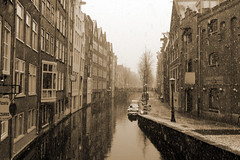 Amsterdam the old style (lhb-777) Tags: old city venice winter house snow cold holland history net water amsterdam sepia canon buildings real canal nice view centre north nederland freezing style looks centrum oud stad gracht huizen koud echt geschiedenis historisch bootjes kijken styl panden vriezen pvb2013